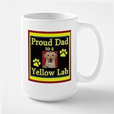 Yellow Lab Dad Large Mug Mugs