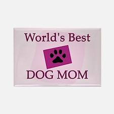 World's Best Dog Mom Rectangle Magnet Magnets