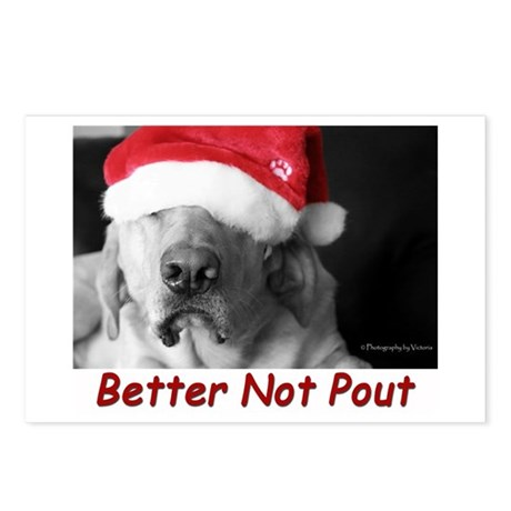 Better Not Pout Postcards (package Of 8) Postcard