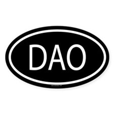 DAO Oval Decal