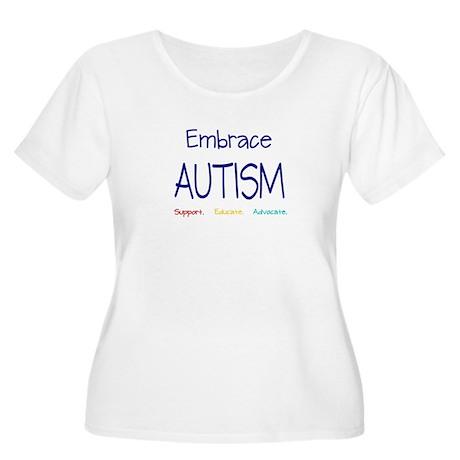 Embrace Autism Women's Plus Size Scoop Neck T-Shir