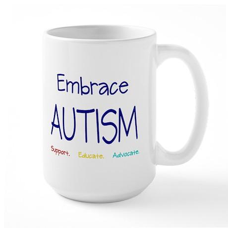 Embrace Autism Large Mug