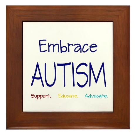 Embrace Autism Framed Tile
