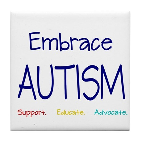 Embrace Autism Tile Coaster