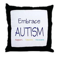 Embrace Autism Throw Pillow