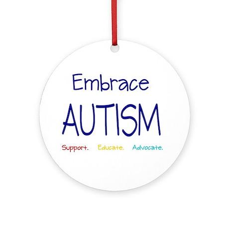 Embrace Autism Ornament (Round)