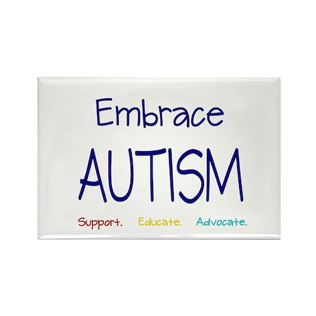Embrace Autism Rectangle Magnet (100 pack)