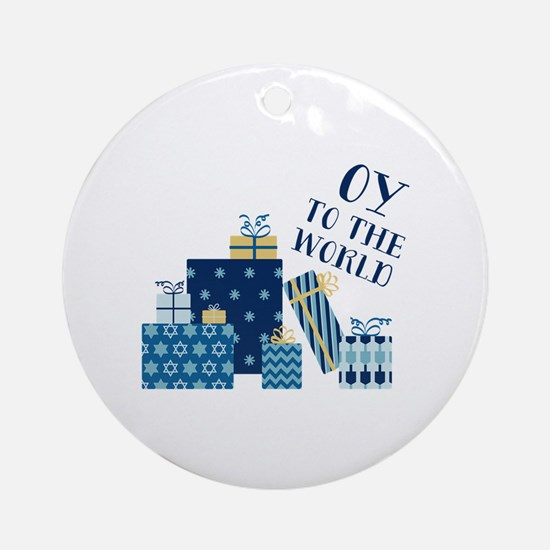 Oy To World Round Ornament