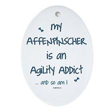 Affenpinscher Agility Addict Oval Ornament