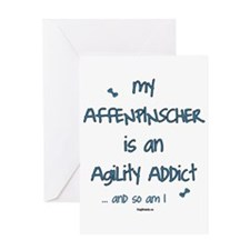 Affenpinscher Agility Addict Greeting Card