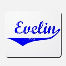 Evelin Vintage (Blue) Mousepad