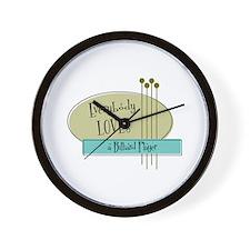 Everybody Loves a Billiard Player Wall Clock