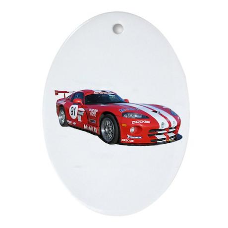 Dodge Viper Oval Ornament