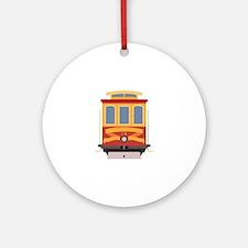San Francisco Trolley Round Ornament