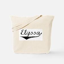 Elyssa Vintage (Black) Tote Bag