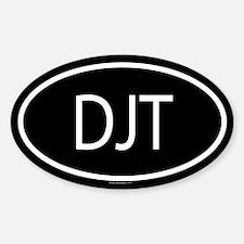 DJT Oval Bumper Stickers