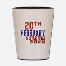 20 February A Star Was Born Shot Glass