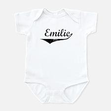 Emilie Vintage (Black) Infant Bodysuit