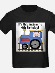 Engineer 4th Birthday T-Shirt