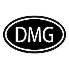 DMG Oval Decal