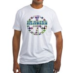 Retro Peace Sign Imagine Fitted T-Shirt