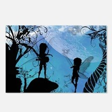 Cute fairy in the night Postcards (Package of 8)