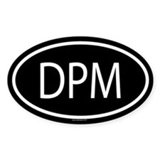 DPM Oval Bumper Stickers