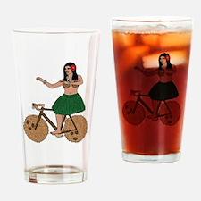 Cute Hula dancer Drinking Glass