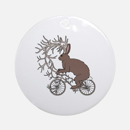 Cute Jackalope Round Ornament