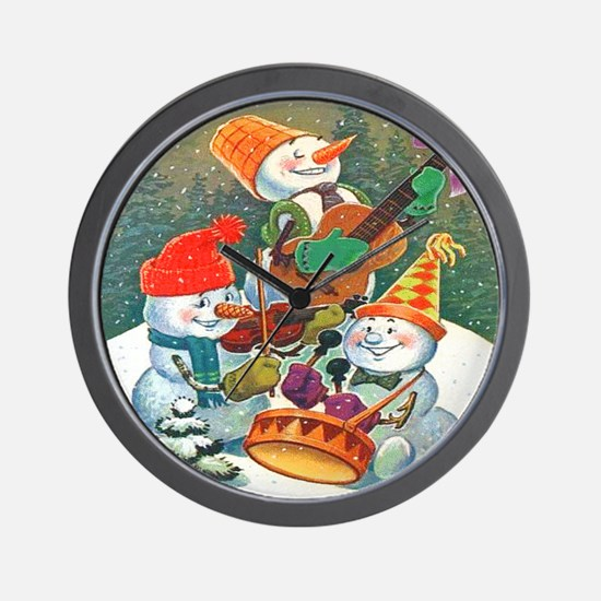 Christmas Snowmen Wall Clock