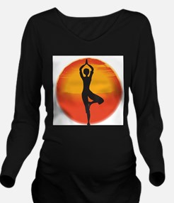 Red Sunset Long Sleeve Maternity T-Shirt