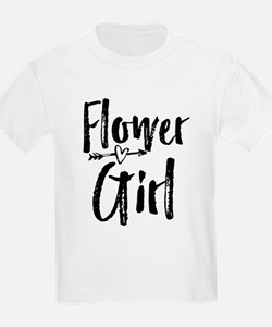 Kids Flower Girl Bridesmaid Wedding Reception T-Sh