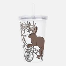 Jackalope Riding It's Acrylic Double-wall Tumbler