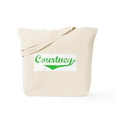 Courtney Vintage (Green) Tote Bag