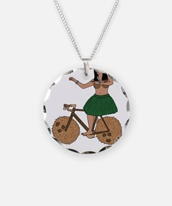 Hula Dancer Riding Bike With Necklace