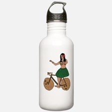 Hula Dancer Riding Bik Water Bottle