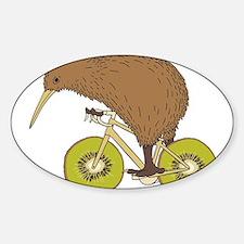 Kiwi Riding Bike With Kiwi Wheels Bumper Stickers