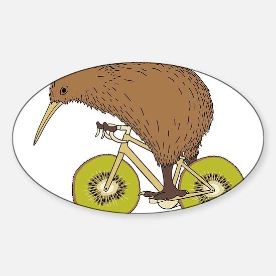 Kiwi Riding Bike With Kiwi Wheels Decal
