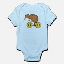 Kiwi Riding Bike With Kiwi Wheels Body Suit