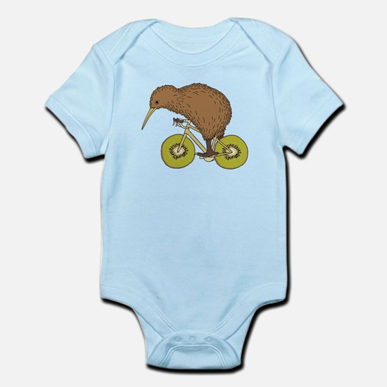 Kiwi Riding Bike With Kiwi Wheels Body Suit