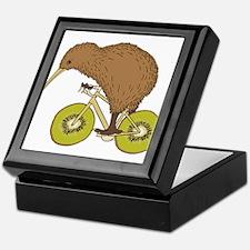 Kiwi Riding Bike With Kiwi Wheels Keepsake Box