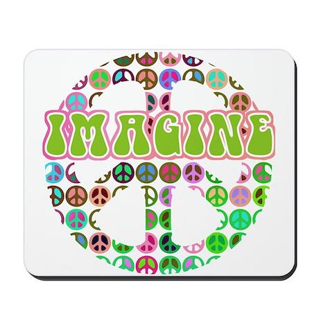 Retro Peace Sign Imagine Mousepad