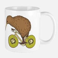 Kiwi Riding Bike With Kiwi Wheels Mugs