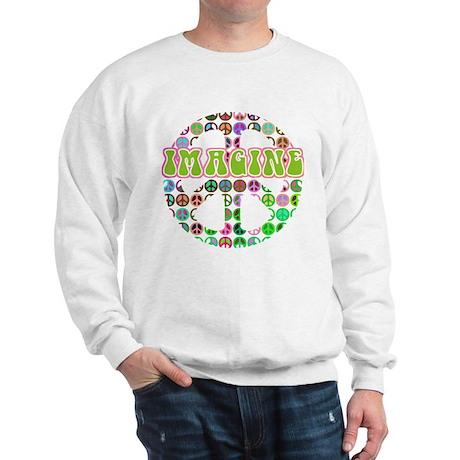 Retro Peace Sign Imagine Sweatshirt