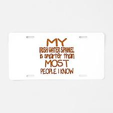 My Irish Water Spaniel is s Aluminum License Plate