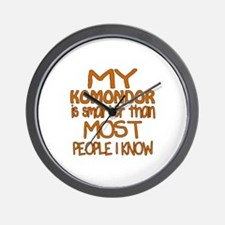My Komondor is smarter Wall Clock