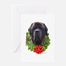 Brindle Wreath Greeting Cards