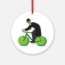 Cute Fixie bike Round Ornament