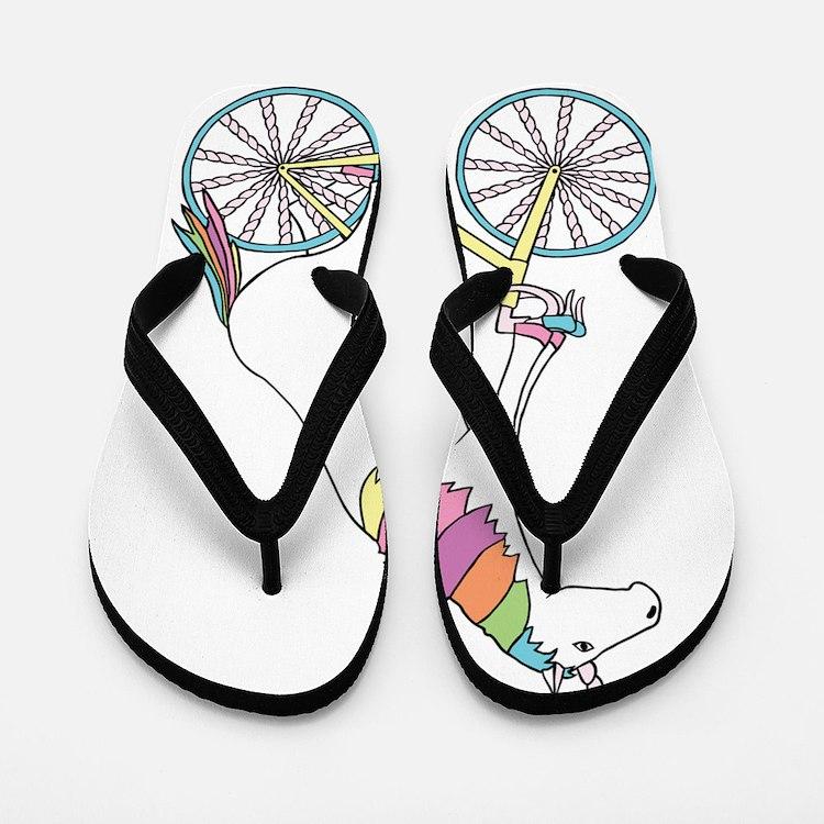 Cute Cyclist Flip Flops