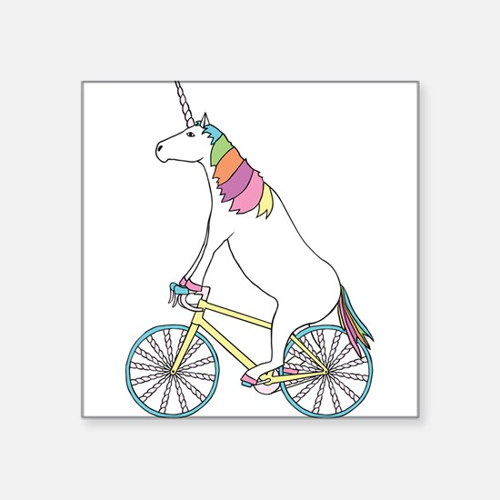 Unicorn Riding Bike With Unicorn Horn Spok Sticker
